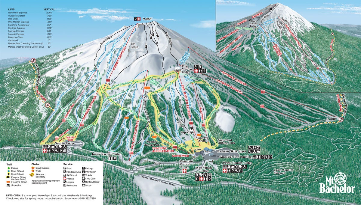 Take the Chair Lift to the Summit and Enjoy 360 Degrees of Skiing Down From All Sides of this Dormant Volcano