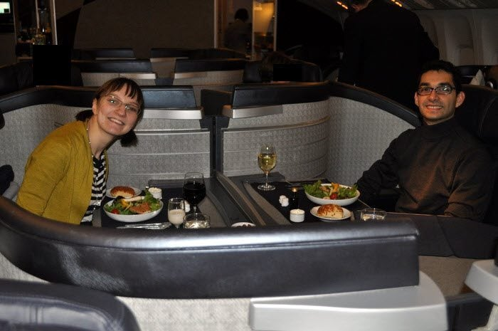 American Airlines Flagship First Class – Chicago to London – Dining Together!