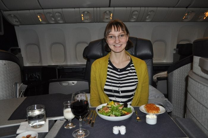 American Airlines Flagship First Class – Chicago to London – Emily's Salad