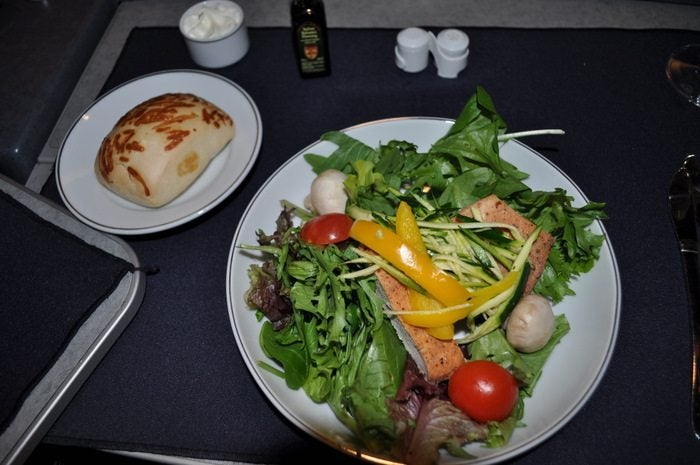 American Airlines Flagship First Class – London to Chicago – Salad