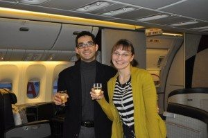 American Airlines Flagship First Class – Chicago to London – Emily & Daraius