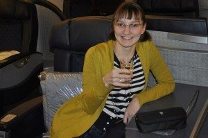 American Airlines Flagship First Class – Chicago to London – Another Pre-Departure Toast!