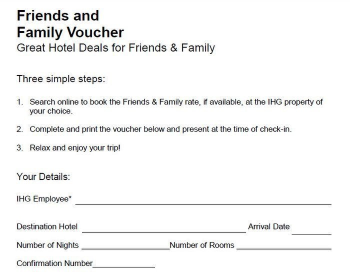 IHG Friend & Family Rate - 2