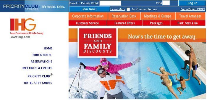 IHG Hotels Friends & Family Rate