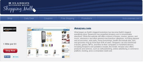 5 Easy Steps To Earning US Air Dividend Miles When Shopping At Amazon.com