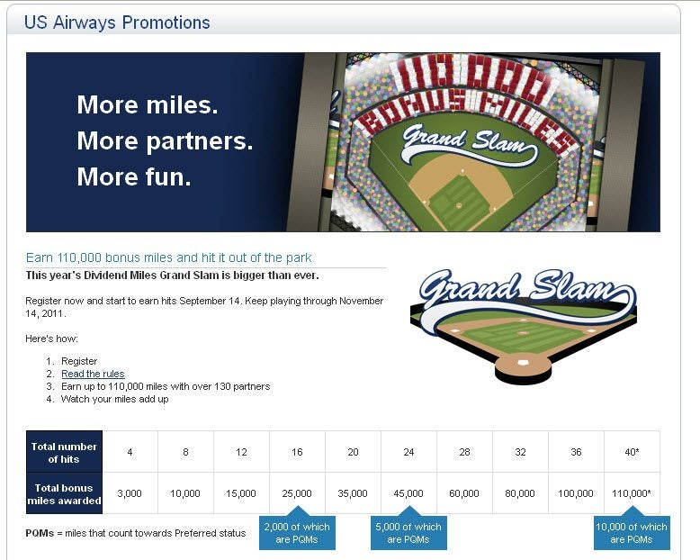 117,166 US Air Miles for $636 Thanks To The 2010 US Airways Grand Slam