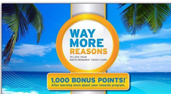 1,000 ($17 Value) Free Southwest Airline Points For Chase Southwest Credit Card Holders – Possibly Targeted [Expired]