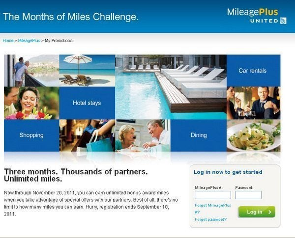 "Big Earning Potential With United's ""Months of Miles Challenge"""