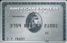 Bank reward cards million mile secrets for Mercedes benz american express platinum