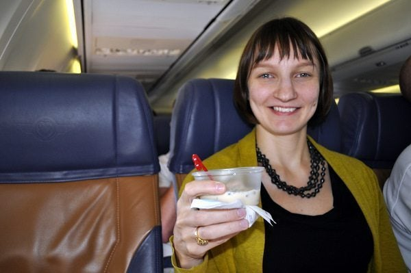 Southwest Trip Report - Emily having a Bailey's