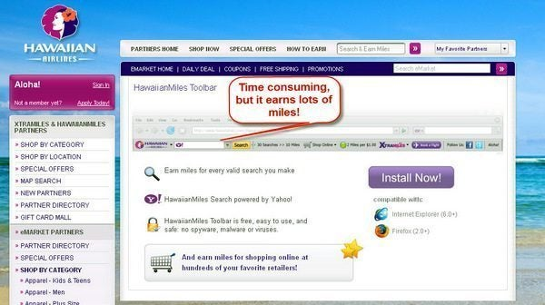 Hawaiian Airlines Toolbar