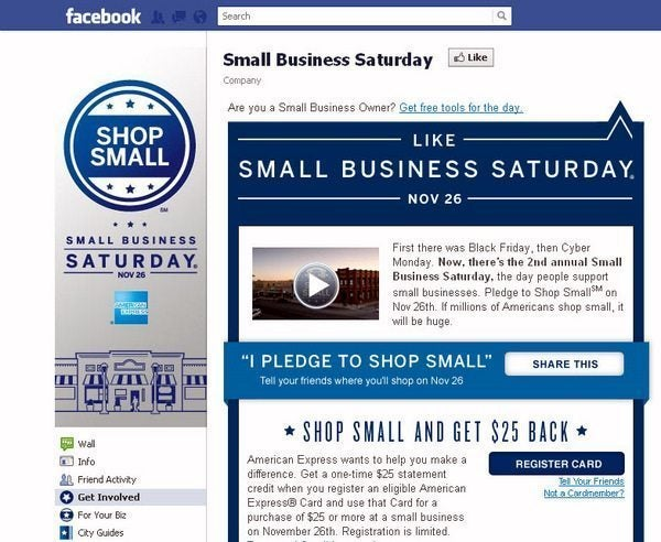 $25 Free Per AMEX Card Used at a Small Business This Saturday!