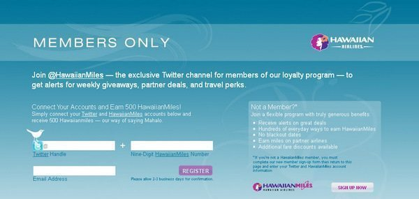 500 Free Hawaiian Airline Miles