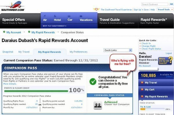 Southwest Rapid Rewards Visa Credit Card Login