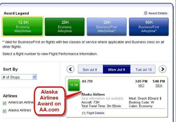 You Can Now Book Alaska Air Awards On American Airlines' Website