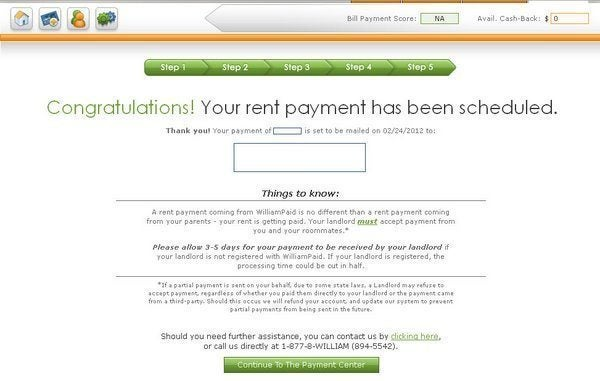 Pay rent with credit card