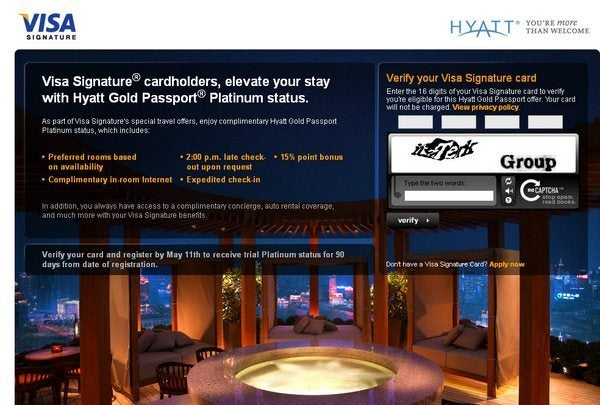 Free Hyatt Platinum Status for 90 Days