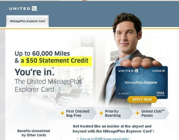 Credit Card Updates: United Club Card with 1st Year Fee ($395) Potentially Waived, United Explorer 60,000 Mile Card Now with $50 credit, & $300 Chase Freedom Card