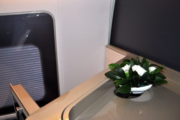 British Airways First Class Review - Flower