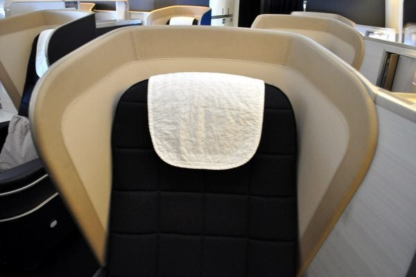 British Airways First Class Review  - Seat