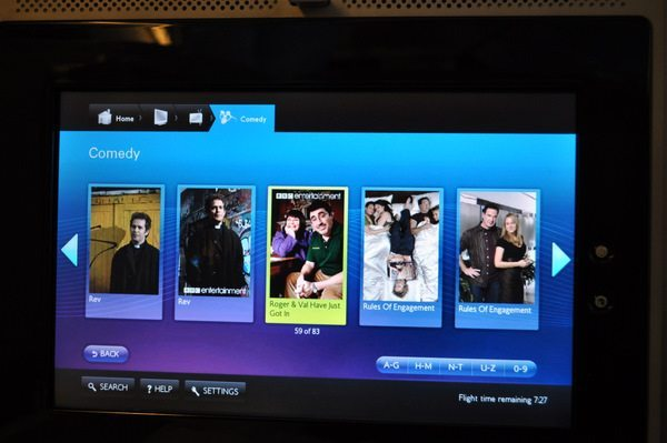 British Airways First Class Review - Entertainment