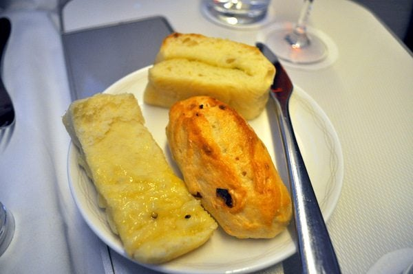 British Airways First Class Review  - Choice of Bread