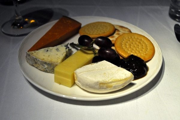 British Airways First Class Review - Cheese & Crackers