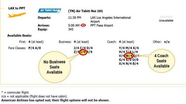 AIr Tahiti Nui Award Booking 4