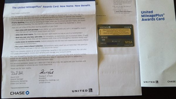 New United Awards Card Chase 1