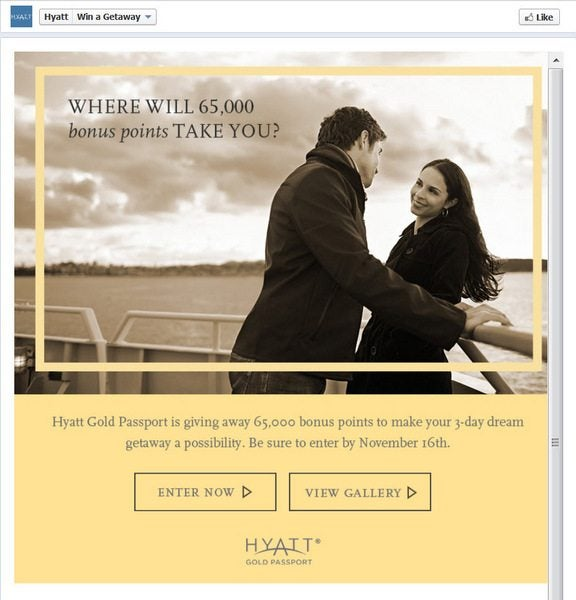 "Hyatt ""Imagine The Possibilities""  – 65,000 Points + 22,000 Points Blog Giveaway!"