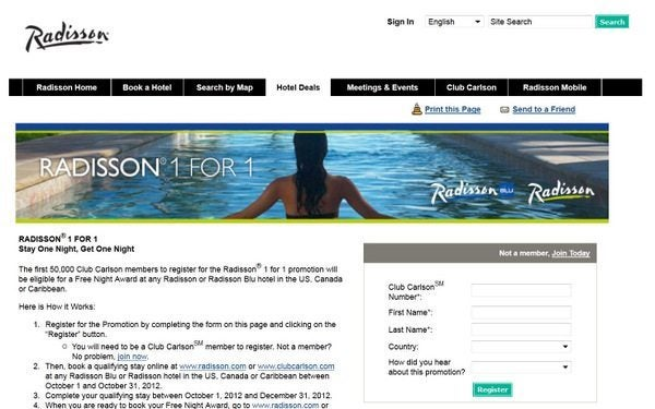"How to Maximize the Radisson ""Stay One Night, Get One Night"" Promotion"