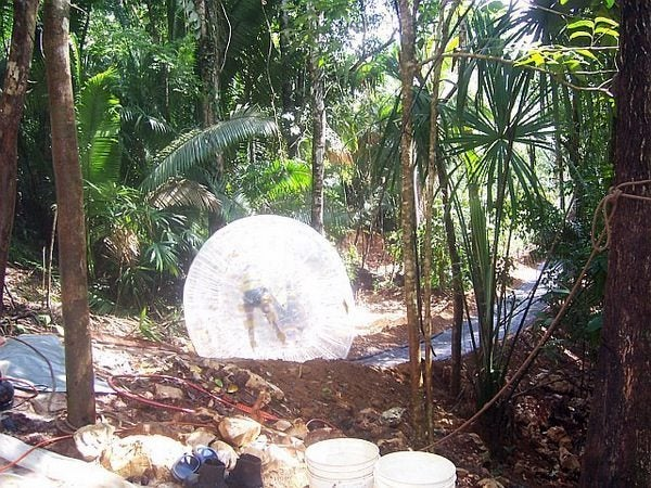 New_Girl_in_the_Air_Zorbing in Belize
