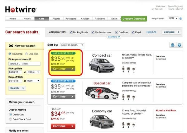 How To Use Hotwire For Car Rental