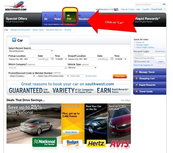 Southwest Car Rentals 2