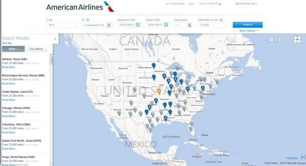 American Airlines Award Map 2