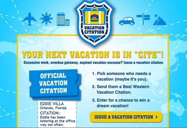 Do You Use All Your Vacation?  Comment To Win a $100 Best Western Gift Card