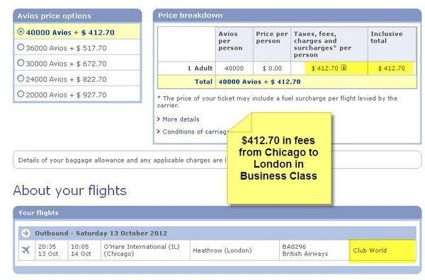 British Airways Award Booking