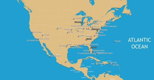 Air Tran Route Map