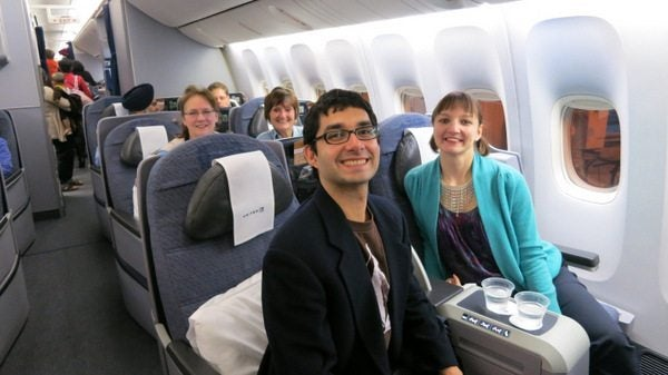 Mother-In-Law's First Trip to India:  United Business Class Back to the US