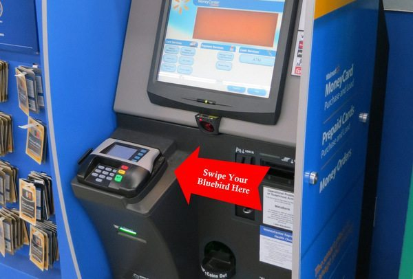 Using the Automatic Kiosk to Load Bluebird & Buy Money Orders at Wal-Mart