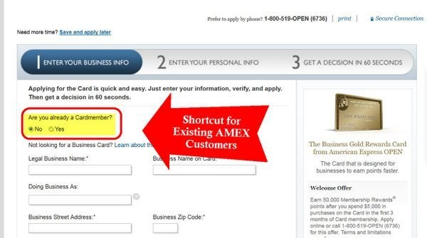 Shortcut for AMEX Customers