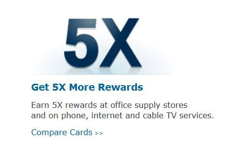 5X Points at Office Supply Stores!