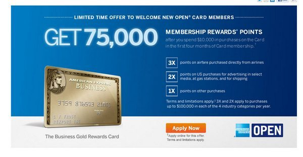 75,000 Membership Rewards Points After Spending $10,000 Within 4 Months