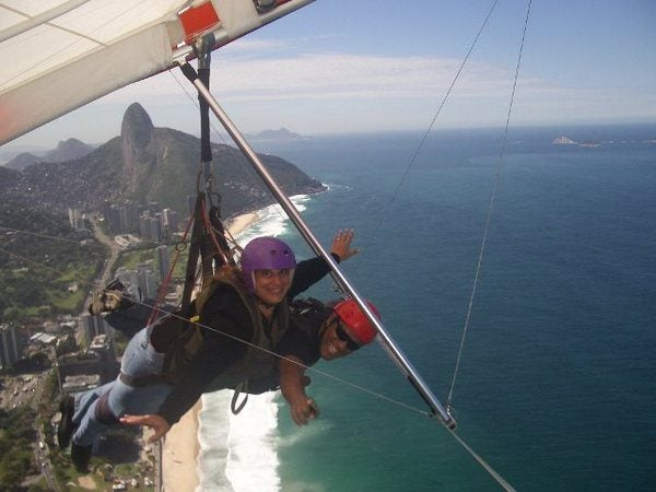 """I got to see what it was like to fly by jumping off a mountain in Rio de Janiero!"""