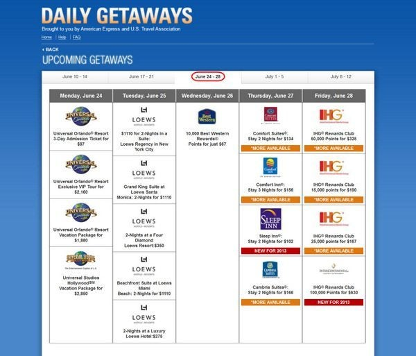 Daily Getaways Week 3
