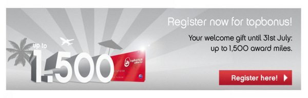 1,500 AirBerlin Miles for Signing Up for a Frequent Flyer Account