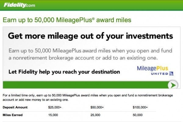 Up To 50,000 Miles From Fidelity