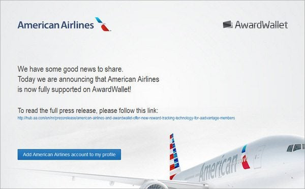 AwardWallet Now Tracks Your American Airlines Miles