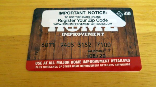 I Used the Home Improvement Card as a Debit Card Everywhere!