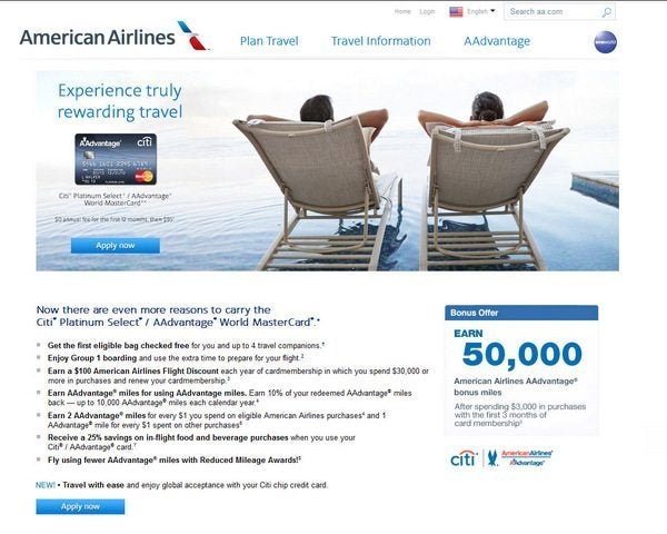 News You Can Use - Citi American Airlines 50,000 Miles & More…